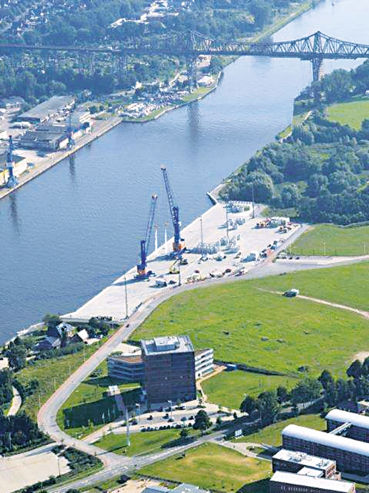 New Port at Rendsburg (German)